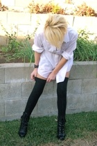 blouse - Target socks - Guess boots