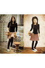 Black-far-east-plaza-singapore-top-beige-united-colours-of-benetton-skirt-wh