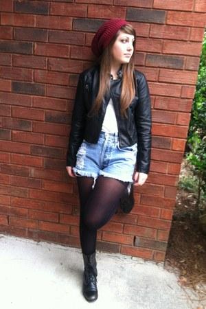 black leather Forever 21 jacket