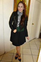 black faux leather Charlotte Russe jacket