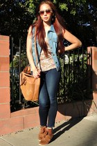 navy denim Forever 21 vest