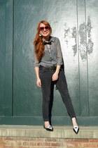 dark gray skinny jeans American Eagle jeans