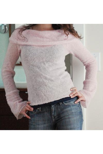 light pink fashion bcbg max azria sweater