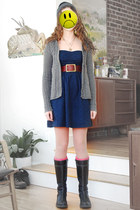 navy mini American Eagle dress - heather gray knit abercrombie and fitch sweater
