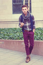 Tawny-brown-apt-9-boots-dark-green-plaid-target-shirt
