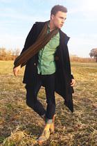 beige suede H&M shoes - navy mens skinny Diesel jeans