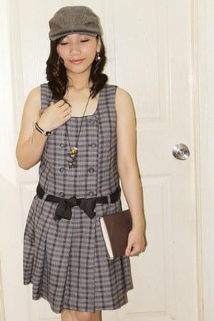 dress - hat - dark brown belt