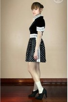 black Oh My Godot Vintage dress - black Zara shoes - beige H&M socks