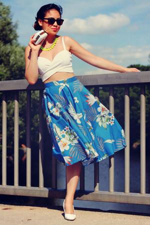 bralette nastygal top - full floral modcloth skirt