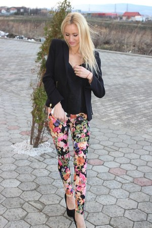 floral Missguided leggings