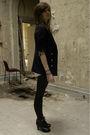Blue-camden-town-blazer-black-brick-lane-boots-black-urban-outfitters-leggin