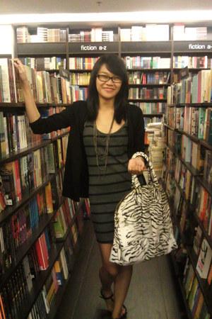Forever 21 dress - from my beau random brand bag - Guess cardigan - Girlshoppe n