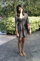 babydoll Forever 21 dress - Marc Jacobs bag - Girlshoppe necklace - shoebox heel