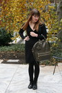 Black-dr-martens-boots-black-forever-21-dress-olive-green-allibelle-bag