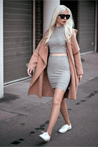 light brown Sheinside coat