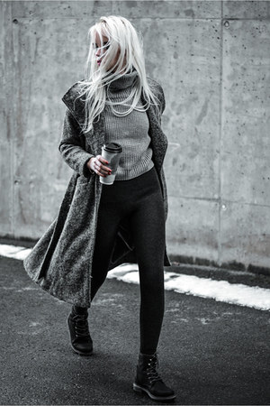charcoal gray bornprettystore leggings