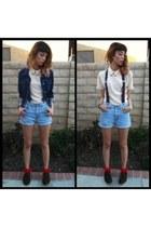 Levis shorts - jean jacket Levis jacket - ballerina socks Ebay socks