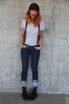 Urban Outfitters shirt - Clarks boots - Target jeans - Gap hat