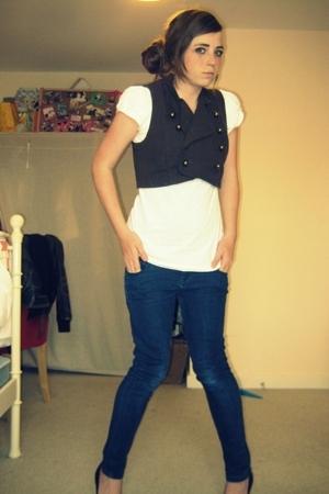 Topshop jacket - Primark top - Topshop jeans