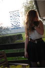 Black-primark-skirt-white-vintage-blouse-blue-h-m-tights-black-pimkie-shoe