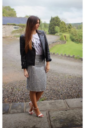 silver silver V Label London skirt - black leather whistles jacket