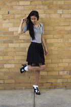 black Ksubi skirt - black Dotti shoes - ivory unknown socks