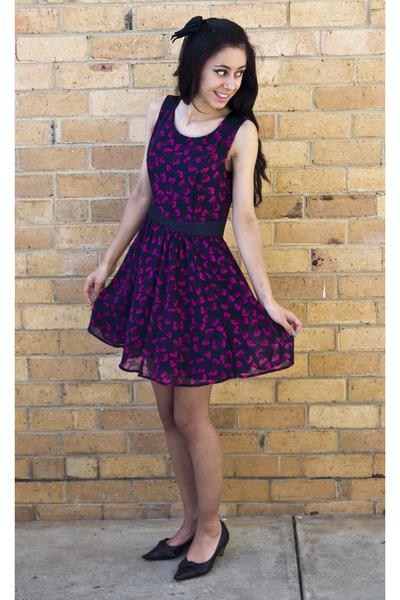 black tony bianco heels - navy david jones dress