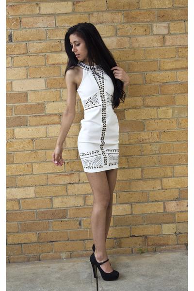 Off White Bardot Dresses Black Tony Bianco Heels | &quotThanks for