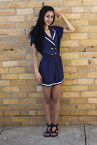 black tony bianco sandals - navy ids romper