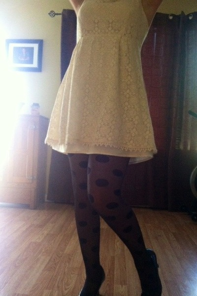 lacy dress Miss Chevious dress - Jcpennys tights