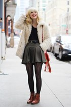 army green Nasty Gal skirt - bronze madewell boots
