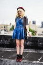 Light-blue-asos-dress-red-asos-loafers