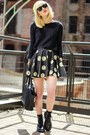 Black-sheinside-skirt