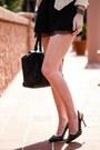 Nude-indulgera-blazer-black-bcbg-shorts