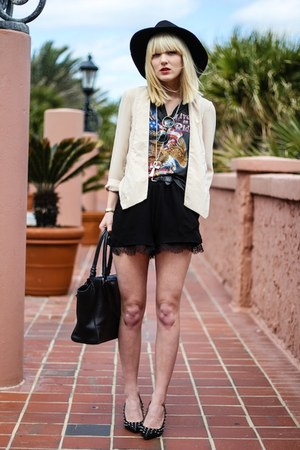 nude Indulgera blazer - black BCBG shorts