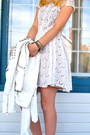 White-lace-dress-bcb-dress-white-leather-biker-akira-chicago-jacket