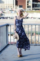 navy Quiksilver Women dress - neutral Jeffrey Campbell sandals