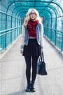 Ruby-red-tartan-h-m-scarf