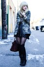 Black-zara-boots-olive-green-zara-jacket-black-akira-skirt