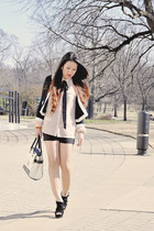 black and white Forever21 jacket - black and white Jason Wu for Target bag