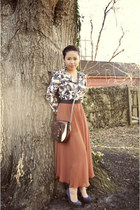 tawny Lush skirt - brick red Ralph Lauren purse - beige Tucker blouse
