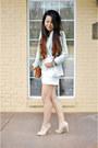 Mint-zara-blazer-lace-forever-21-top-melie-bianco-wallet-bcbg-pumps