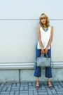 Heather-gray-asos-bag-navy-asos-pants-white-next-top-black-j-jill-sandals