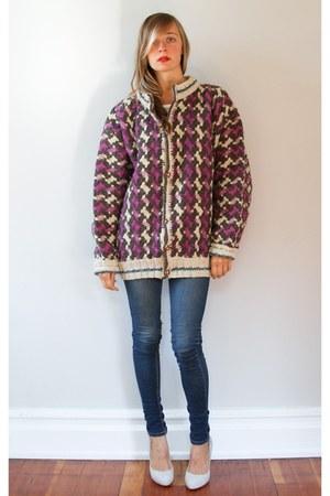 purple sweater - blue Cheap Monday jeans - heather gray Aldo shoes