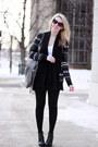 Black-dolce-vita-boots-silver-linea-pelle-bag-black-mexx-skirt