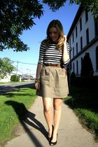 brown Joe Fresh skirt - Joe Fresh shirt - black payless shoes - brown H&M belt -