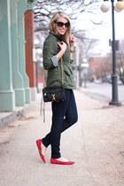 Gap flats - iT jeans - Simply Audrey jacket - gingham Joe Fresh shirt