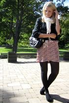 pink hush & shout dress - black Aldo shoes - black Aldo purse - black joe frseh