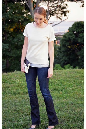 navy citizens of humanity jeans - eggshell Sanctuary top