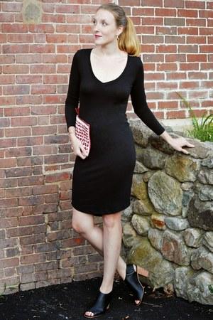 black Bar III dress - maroon Anthropologie bag - black Steve Madden heels